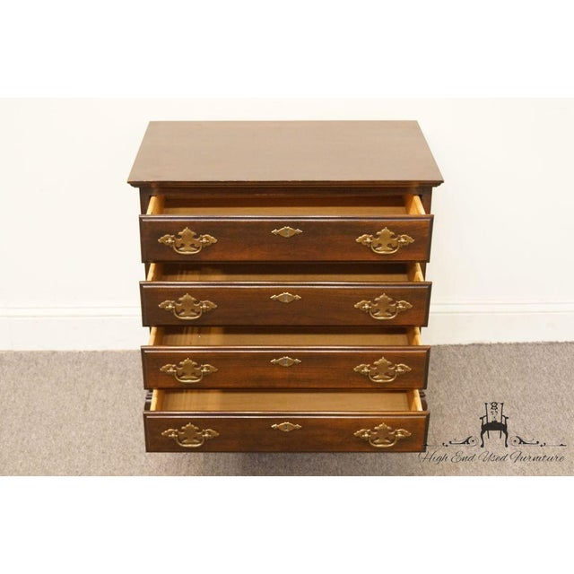 Chippendale Style 4 Drawer Solid Mahogany Accent Chest For Sale In Kansas City - Image 6 of 13