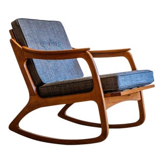 Mid Century Modern Lawrence Peabody Model 952 Rocking Chair For Sale