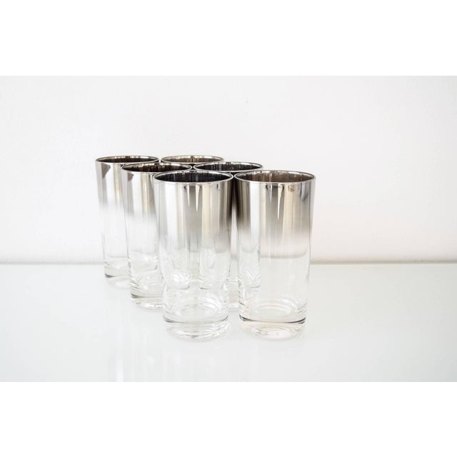 • Vintage mid century modern Dorothy Thorpe style highball or drinking glasses circa 1960. • Clean, modernist lines with...