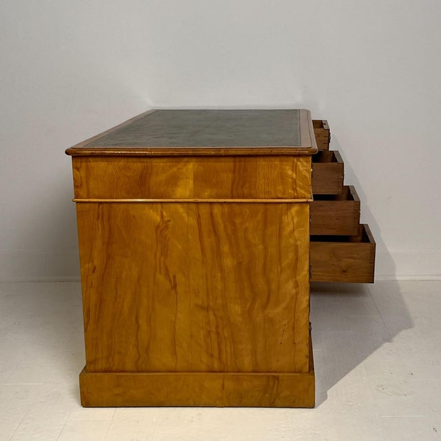 English Satinwood Desk Circa 19th Century For Sale - Image 4 of 8