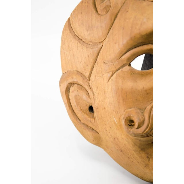 Italian Wood Carved Decorative Male Masks - a Pair For Sale - Image 11 of 13