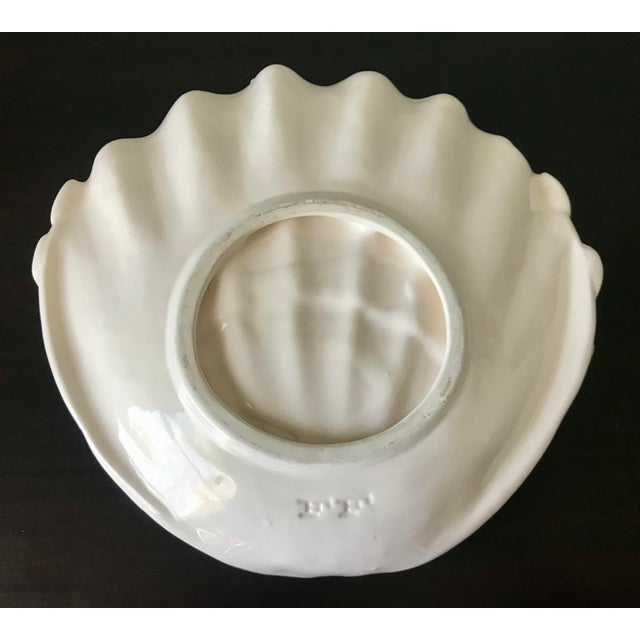 1980s Vintage Fitz & Floyd Yellow & White Seashell Dish For Sale In Saint Louis - Image 6 of 12