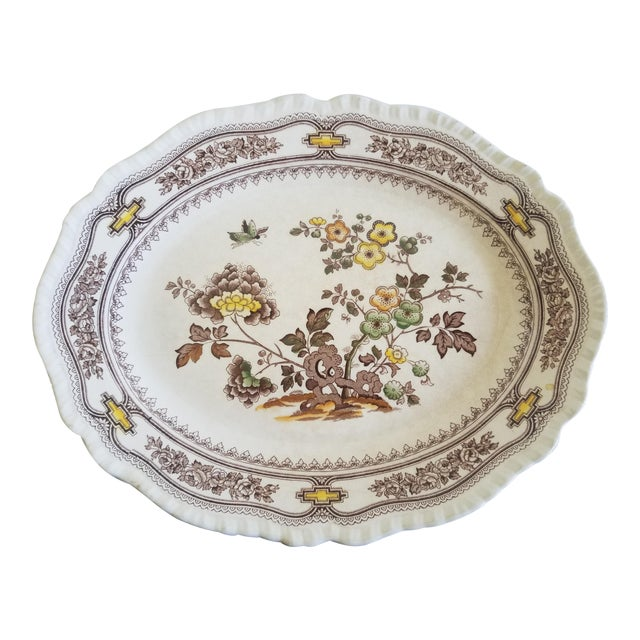 1940s Mason Ironstone Floral Platter For Sale