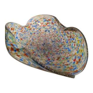 Murano Multi-Colored Art Glass Bowl, Vintage For Sale