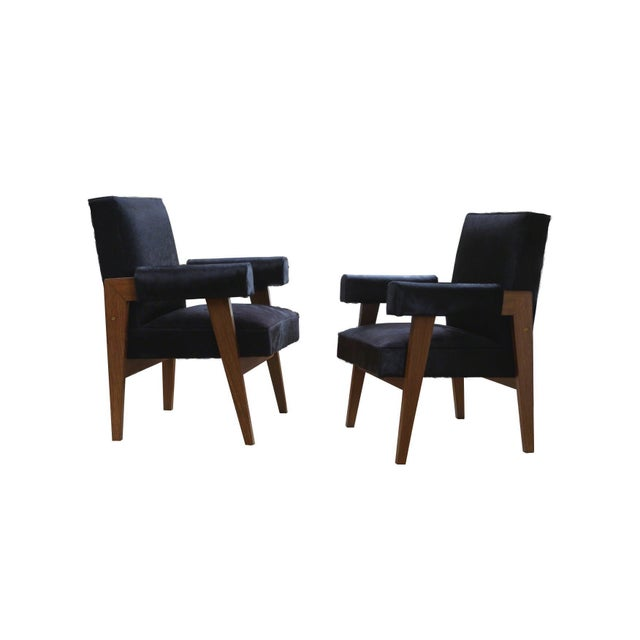 """Animal Skin """"Advocate & Press"""" Bridge Style Lounge Chairs Upholstered in Brazilian Cowhide- a Pair For Sale - Image 7 of 7"""