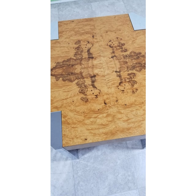 Ash Burl Wood Coffee Table For Sale - Image 7 of 12
