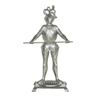 Late 20th Century Victorian Style Knight-Form Umbrella Stand For Sale
