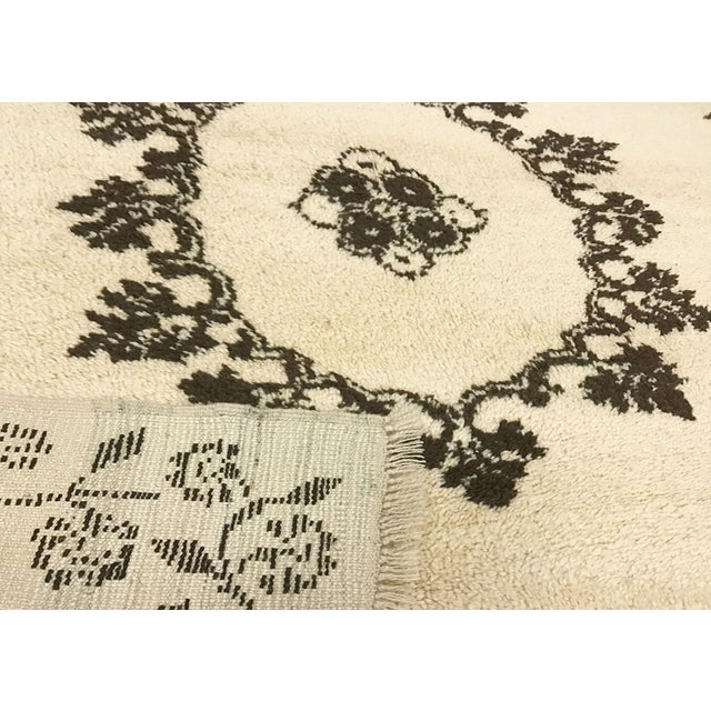 """Contemporary 1970s Turkish Nomadic Long Pile Tulu Rug - 5'4"""" X 6'6"""" For Sale - Image 3 of 3"""