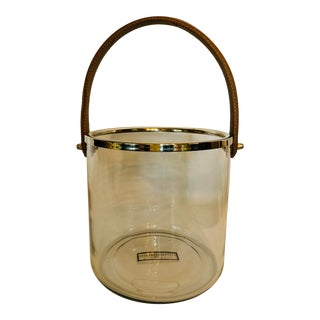 Zodax Barclay Butera Equestrian Ice Bucket with Leather Handle For Sale