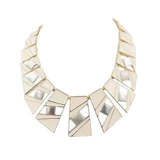 Trifari Enamel Modernist Necklace, 1987 For Sale