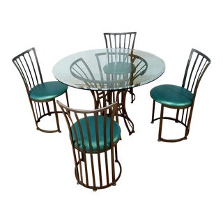 Mid Century Metal Patio Set by Shaver Howard Furniture Company For Sale