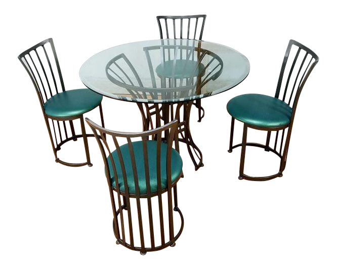 Mid Century Metal Patio Set By Shaver Howard Furniture Company   Image 1 Of  6