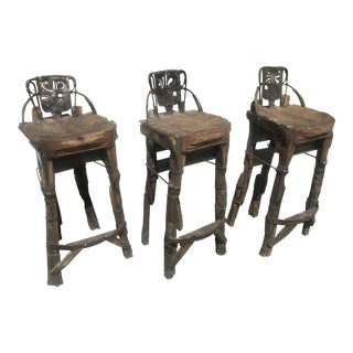 1970s Vintage Mohanta Organic Stools- Set of 3 For Sale