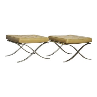 Barcelona Stools by Mies Van Der Rohe