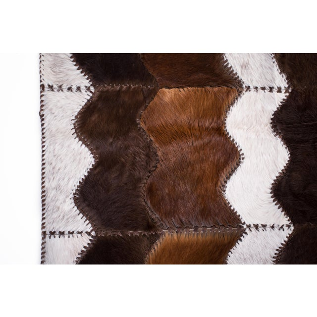 """Cowhide Patchwork Area Rug - 4' x 6'4"""" - Image 5 of 8"""