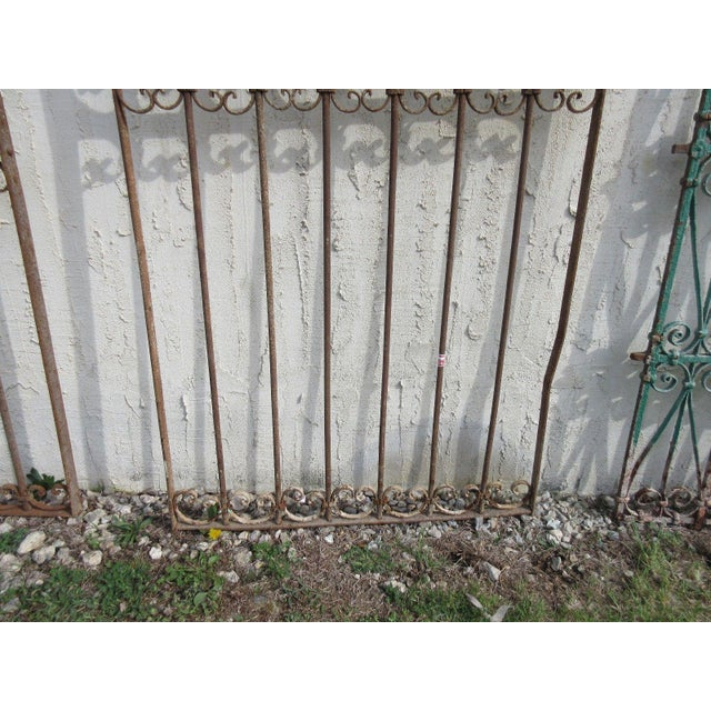 Antique Victorian Iron Salvage Gate For Sale - Image 5 of 6
