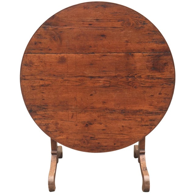 French Antique Winetasting Cellar Table - Image 1 of 5