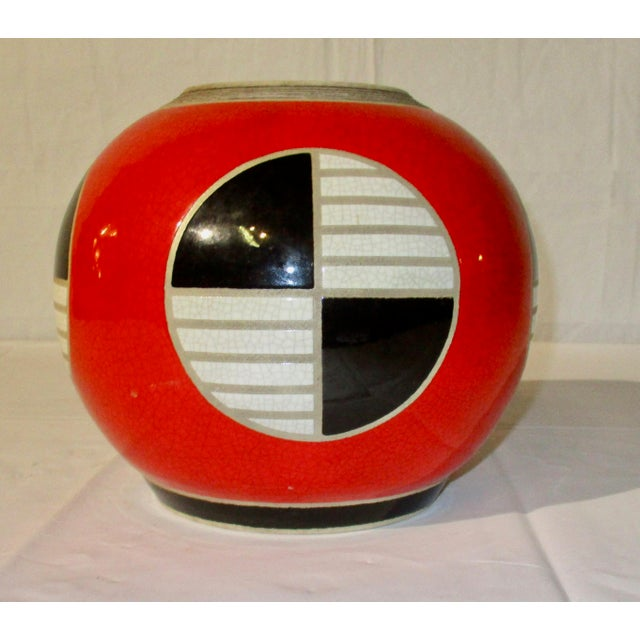 Red, Black and White Modern Jar For Sale In New York - Image 6 of 6
