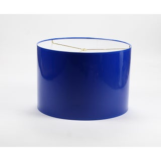 Large Cobalt Blue High Gloss Drum Lamp Shade Preview