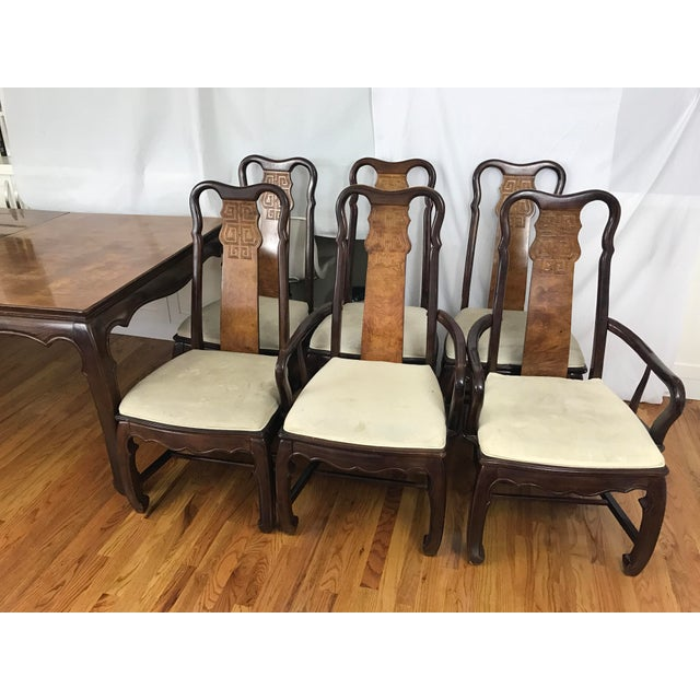 Chinese Chippendale Style Dining Table & Six Chairs- 7 Pieces - Image 5 of 11