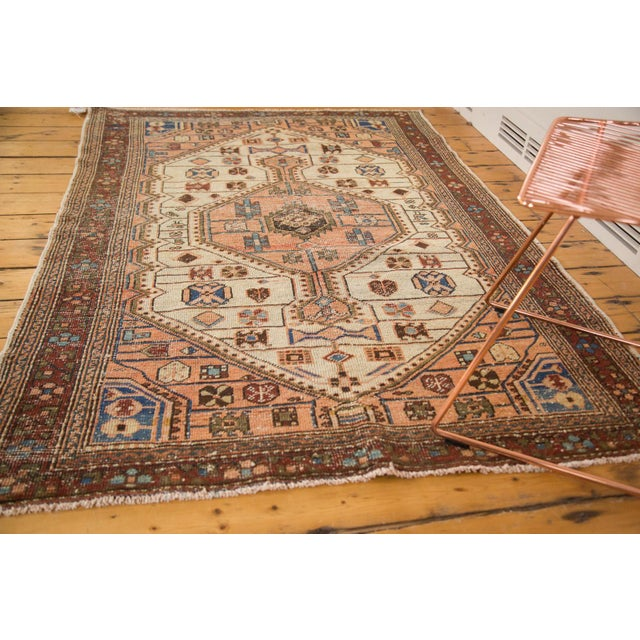 """Islamic Vintage Distressed Malayer Rug - 4'4"""" X 6'3"""" For Sale - Image 3 of 12"""