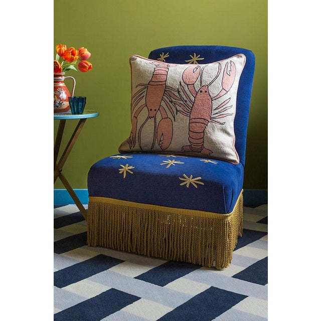 Contemporary Luke Edward Hall for the Rug Company Lobster Natural Cushion For Sale - Image 3 of 5