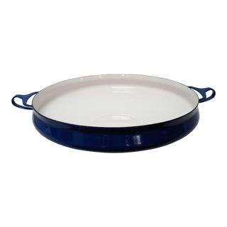 Vintage Blue Dansk Paella Pan For Sale