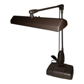 20th Century Industrial Dazor Floating Flourescent Desk Lamp For Sale