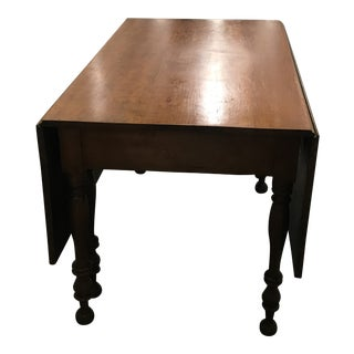 Vintage Country Style Drop-Leaf Dining Table For Sale