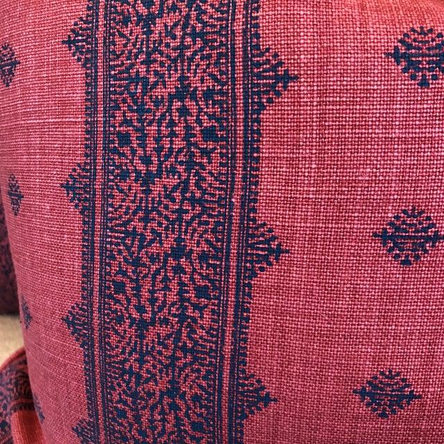 "Boho Chic Linen Stripe 22"" Pillows - A Pair - Image 3 of 7"