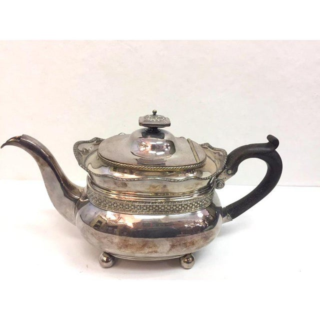 1950s Antique Silver Plated Copper Teapot For Sale - Image 5 of 12