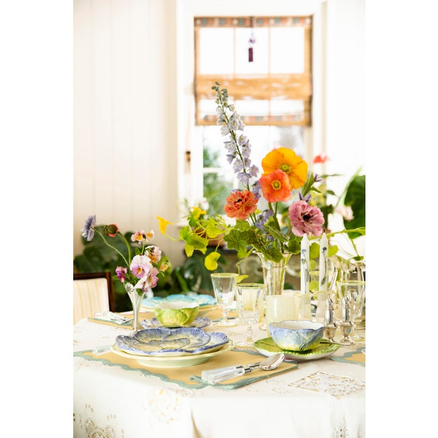Moda Domus x Chairish Exclusive Scalloped Linen Placemat + Napkin Colorblock Set For Sale - Image 9 of 9