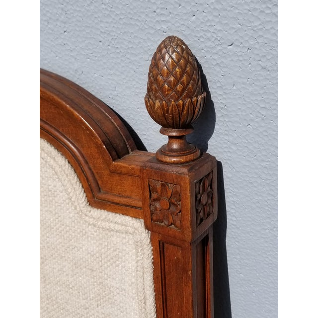 Pair of Vintage French Country Tan Twin Headboards Low Profile For Sale - Image 11 of 13
