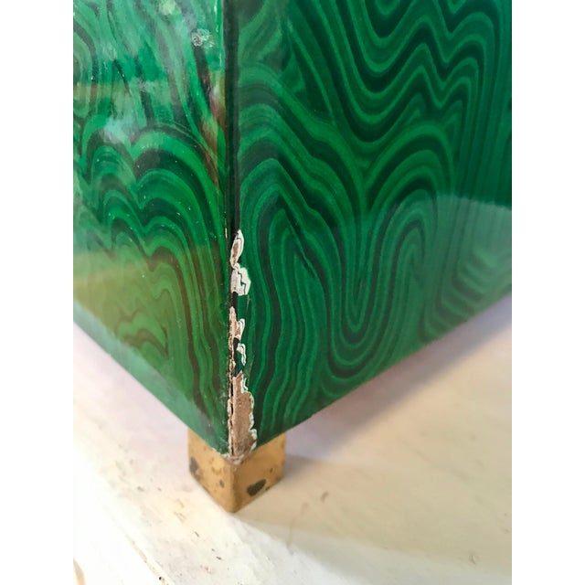 Faux Malachite Boxes - a Pair For Sale - Image 10 of 11