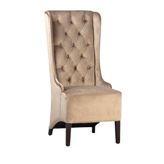 Tufted Velvet Dining Chair For Sale