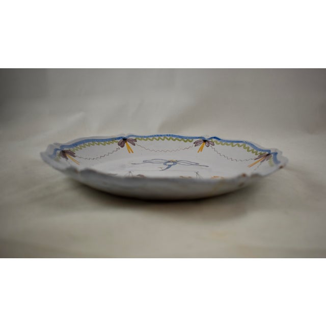 Ceramic 18th C. Nevers French Revolution Tin-Glazed Dish, L'équité For Sale - Image 7 of 8