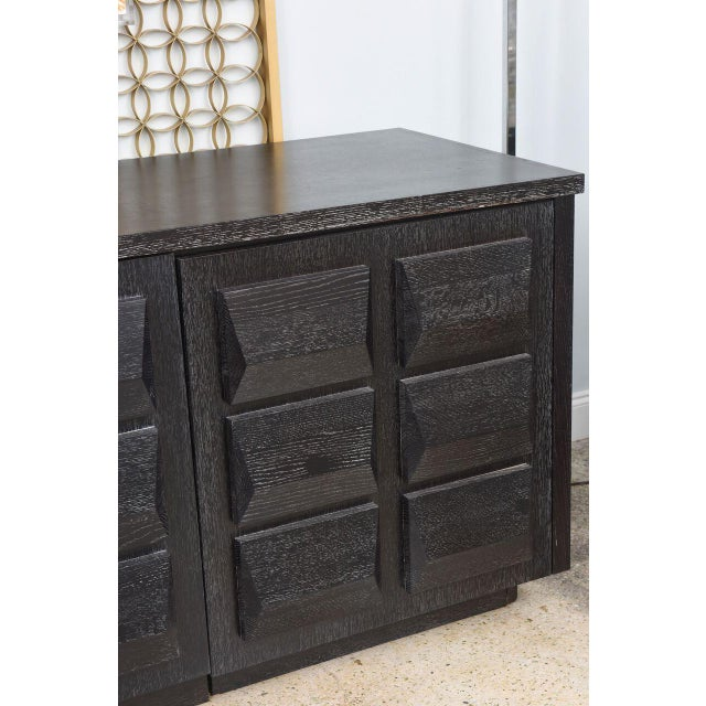 Monumental Ebonized Four-Door Credenza or Buffet by Jamie Herzlinger For Sale - Image 4 of 9
