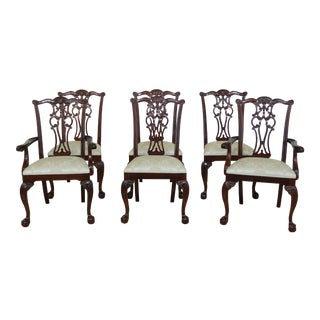 Ethan Allen Ball & Claw Mahogany Dining Room Chairs - Set of 6 For Sale