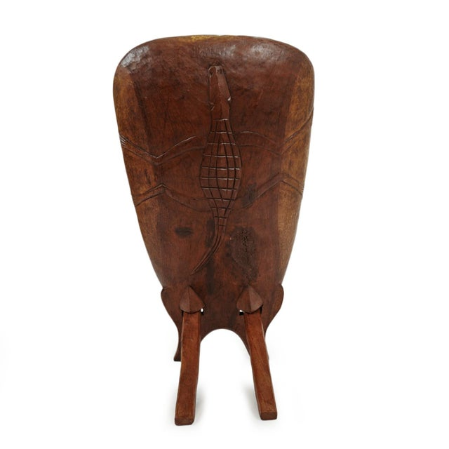 Senufo Stargazer Wood Folding Chair For Sale - Image 4 of 7