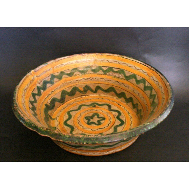 Mid 19th Century 18th-19th Century Majolica Ceramic Baptismal Bowl For Sale - Image 5 of 8