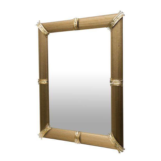 Gold Venetian Rigatello Mirror For Sale - Image 4 of 5
