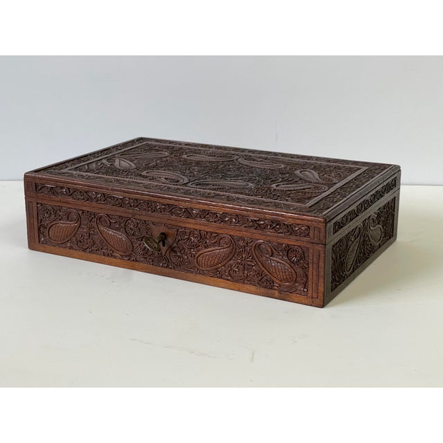 Early 20th Century Wooden Carved Box For Sale - Image 13 of 13
