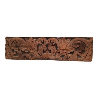 Renaissance Period Carved Wood Fragment For Sale