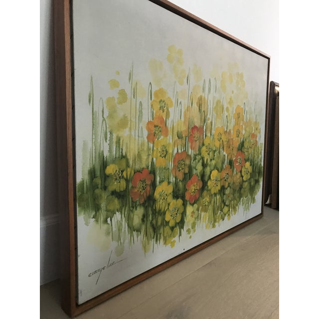 Vintage Mid-Century Large Floral Oil Painting For Sale In Los Angeles - Image 6 of 8