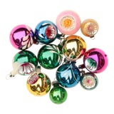 Image of Miniature Blown Glass Christmas Ornaments - Set of 12 For Sale