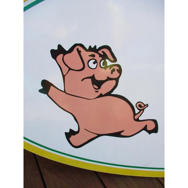 Vintage Wood Pig & Butcher Sign - Image 9 of 9