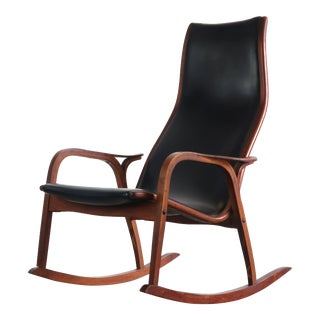 Lamino Chair in Original Black Vinyl Upholstery by Yngve Ekström for Swedese, Sweden For Sale