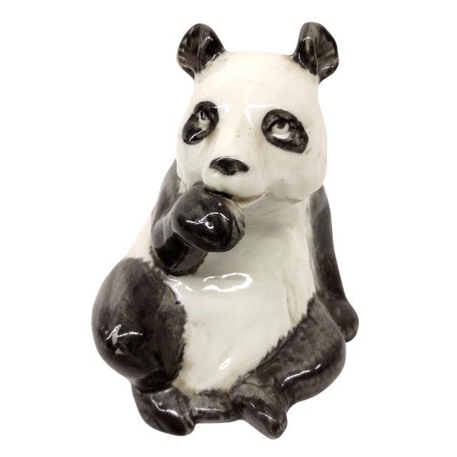 Antique Porcelain Panda Bear For Sale