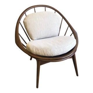 Mid Century Danish Modern Ib Kofod-Larsen Peacock Lounge Chair For Sale