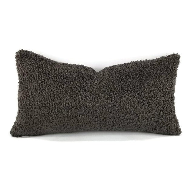 """Cowtan and Tout Shearling in Mink Brown Pillow Cover - 10.5"""" X 20"""" For Sale - Image 4 of 4"""